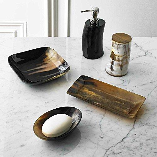 5 piece bath accessory set by kassatex sierra natural horn bath accessories buffalo horn