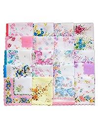 Cotton Gauze Muslin Square Lovely Flower Pattern Handkerchief Towel Minzhi