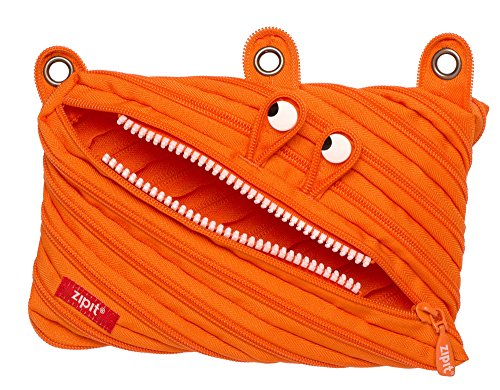 ZIPIT Monster 3-Ring Pencil Case, Orange