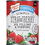 Comstock Simply Pie Filling & Topping, Strawberry, 21 Ounce (Pack of 8)