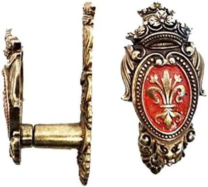 dise/ño con emblema de flor de lis Soporte de pared para espadas Jean Fuentes
