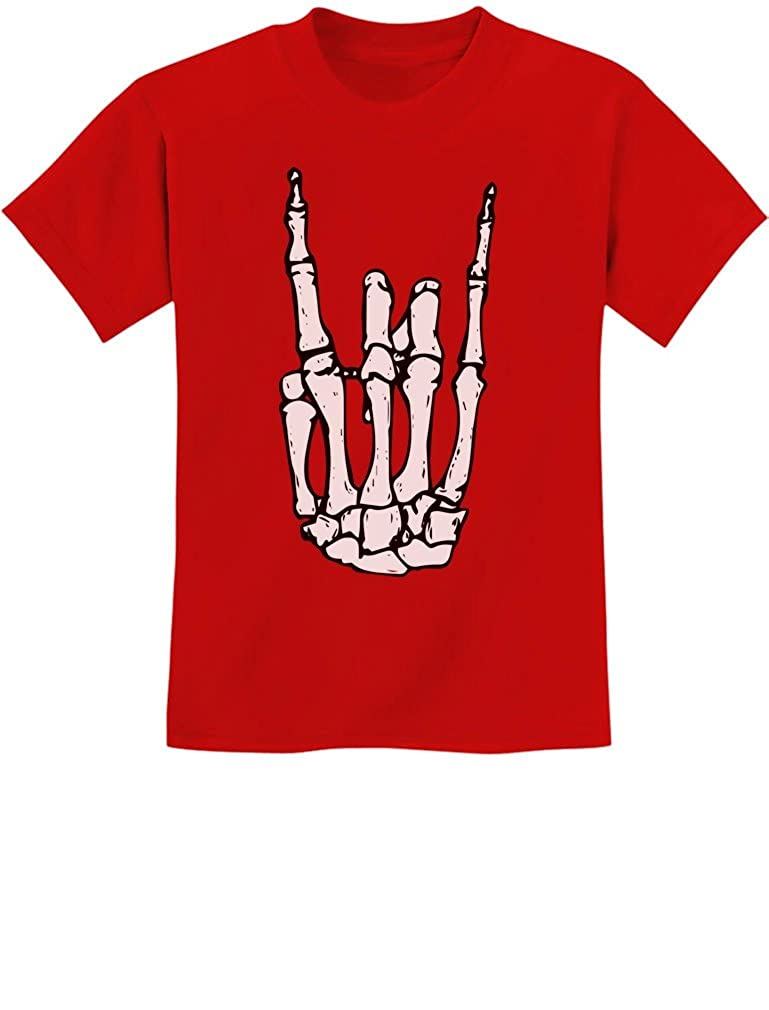 Rock N Roll Skeleton Hand Cool Halloween T-shirt