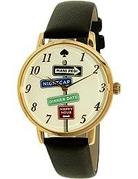 Kate Spade Women's Metro KSW1128 Gold Leather Quartz Watch