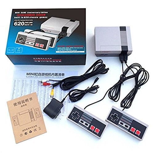 ShareFun Mini Game Entertainment System Handheld Console For Nes Games With 500/620 classic games Different Built-in Games Video Game System (620 Gmaes)