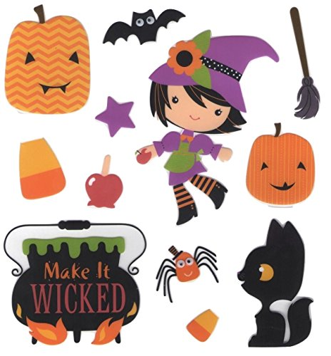 Creatology Halloween Stickers ~ Make it Wicked (12 Pieces, 1 Sheet)