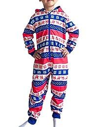 BESBOMIG Family Matching Christmas Pajamas Elf Boys Girls Dad Mum Jumpsuit Sleepwear