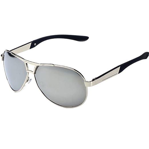 Leben pour homme Verres polarisés pour lunettes de soleil avec cadre en métal de conduite escalade pêche d'équitation - Noir - noir Z4qDACB,