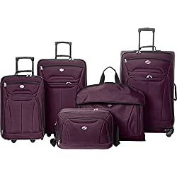 American Tourister Wakefield 5 Piece Luggage Set - eBags Exclusive (Purple)