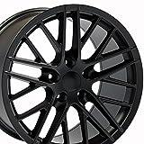 OE Wheels 18 Inch Fits Chevy Corvette 05-2013 C6 ZR1 Style C6 ZR1 Style CV08B 19x10/18x8.5 Rims Satin Black SET