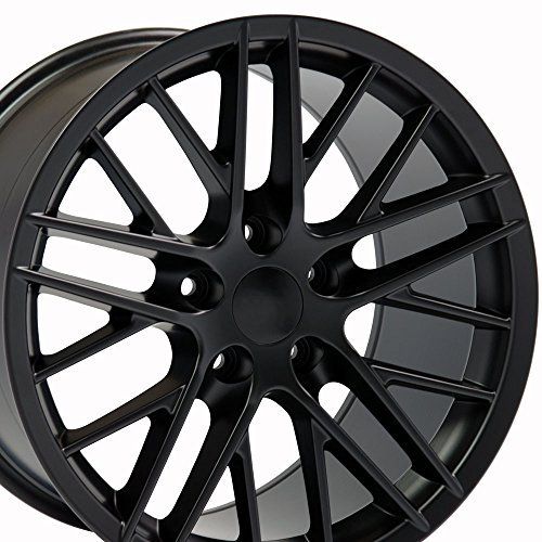 18×10.5 Wheel Fits Corvette, Camaro – C6 ZR1 Style Black Rim, Hollander 5402 – REAR ONLY