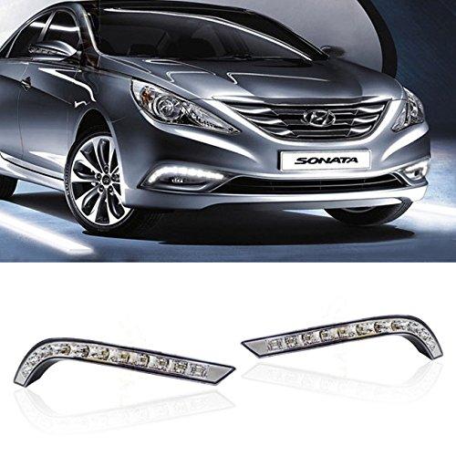 iJDMTOY Exact Fit High Power LED Daytime Running Light Kit For 2011-2014 Hyundai Sonata
