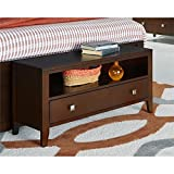 NE Kids Pulse 1 Drawer Bedroom Bench in Cherry