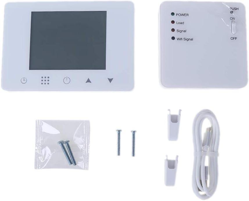 Besttse WiFi & RF termostato inalámbrico para pared, calentador de gas, control remoto, control de temperatura, programable