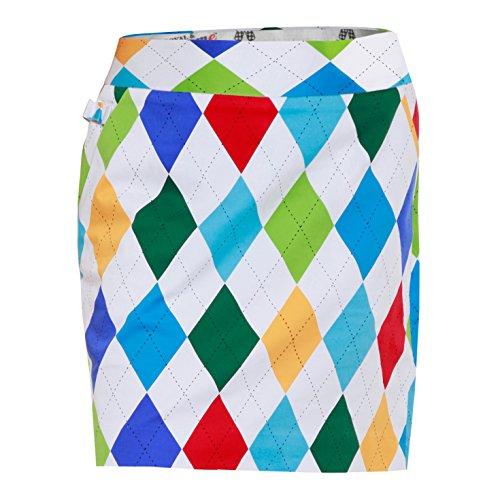 Royal & Awesome Women's Womens Golf Skort Skirt, King of Diamonds, US 12/UK 16