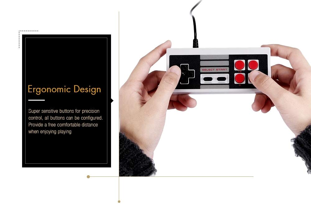 Mini Retro Classic Video Game Console Built-in 620 Games 8 Bit PAL&NTSC Family TV Handheld Game Player Double Gamepads by Dapool (Image #4)