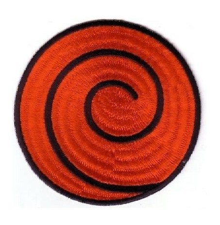 FairyMotion Naruto Red Spiral Patch Anime Uniform Patch Tv Series Punk Rockabilly Applique Sew On/ Iron On Patch Wholesale Perfect Patches