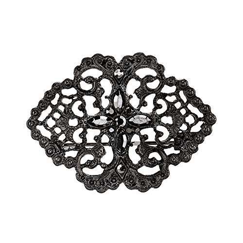 Downton Abbey Boxed Black-Tone and Hematite Color Crystal Filigree ()
