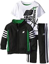 (新品)2.9折,$13.99,New Balance Track新百伦Black/Celtic价格+短袖+长裤