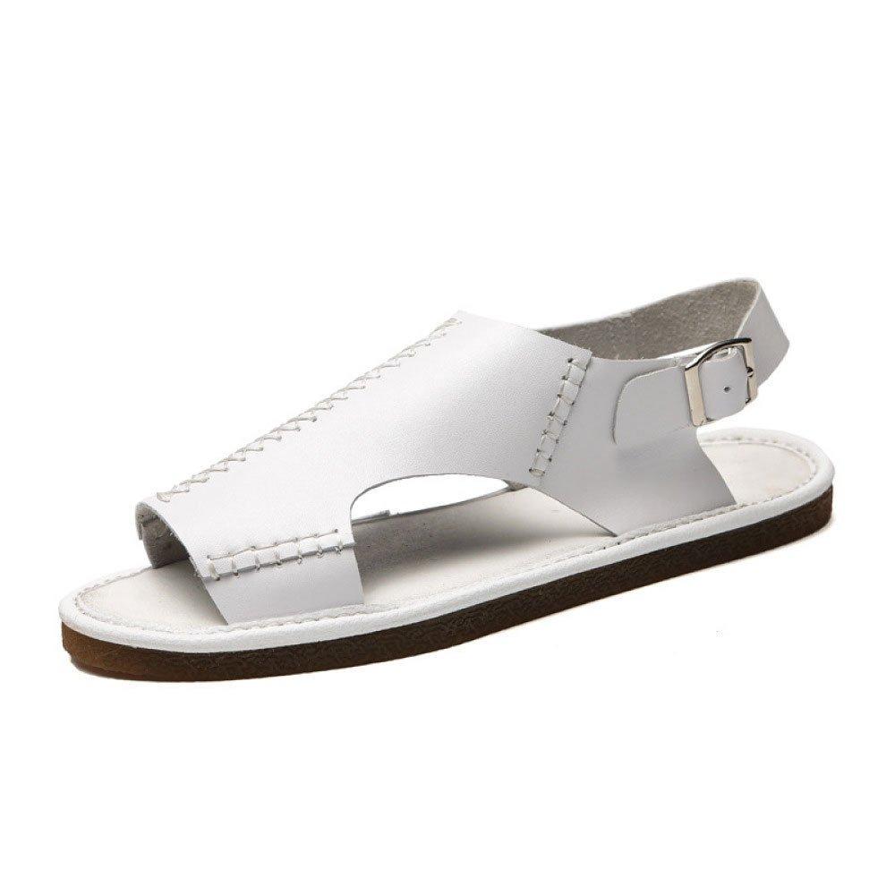 Sandalias De Los Hombres De La Playa De Verano Zapatos De Suela Suave Casual Antideslizante Zapatilla 38 EU|White