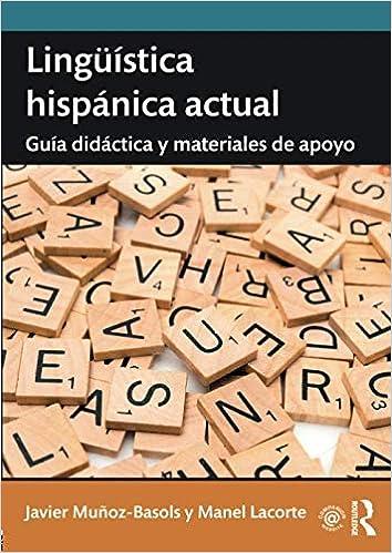 Lingüística hispánica actual 1st Edition