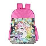 Cute Unicorns Kids School Backpack Bag Pink