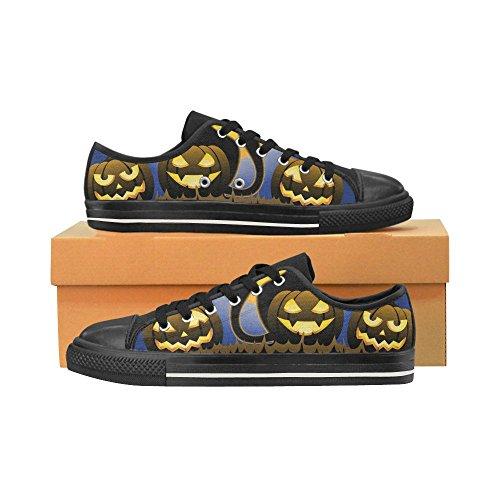 D-Story Custom Happy Halloween Pumpkin Womens Classic Canvas Shoes Fashion Sneaker Multicoloured17