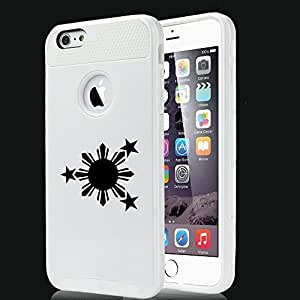 Apple iPhone 6 6s Shockproof Impact Hard Case Cover Philippines Stars And Sun (White)