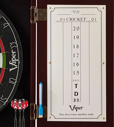 Viper Hudson Sisal/Bristle Steel Tip Dartboard Cabinet