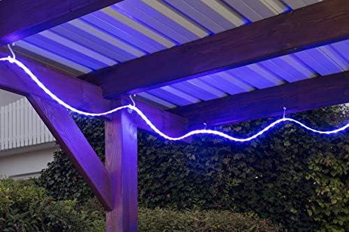Briloner Leuchten - Tira de luces led para exteriores (incluye mando a distancia), rojo-azul-amarillo, Länge: 5m: Amazon.es: Hogar