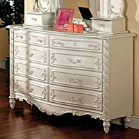 Victoria Bedroom Dresser in Pearl White Finish by Furniture of America