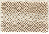 Master Garden Products Peeled Willow Middle Open Pattern Lattice Trellis Fence, 72 by 48-Inch, Light Mahogany Color