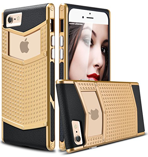 iPhone 6s Plus Case, Ansiwee Anti-Slip Shockproof Armor iPhone 6 Plus Protective Defender Case Shell Slim Fit Non-Slip Grip Rubber Bumper Case Cover for Apple iPhone 6/6s Plus 5.5 Inch (Gold)
