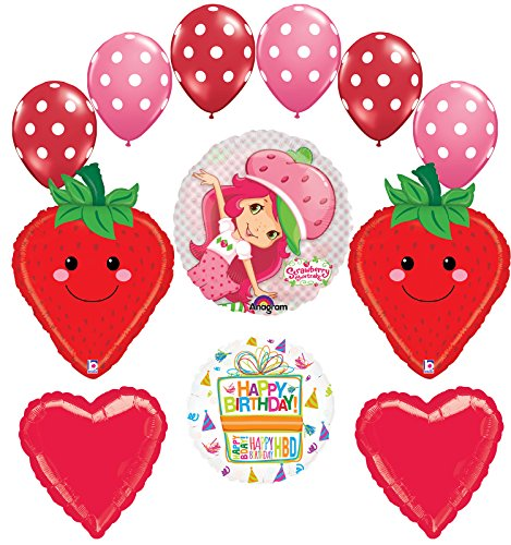 Strawberry Shortcake Birthday Party Supplies and Balloon Decorations Kit ()