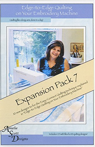 Amelie Scott Designs Edge-to-Edge Quilting on your Embroidery Machine Expansion Pack 7 Quilting Embroidery Designs