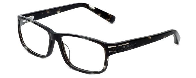 2d05e60e70 Tag Heuer Designer Optical Eyeglasses TH0535-002 in Black-Grey 58mm DEMO  LENS