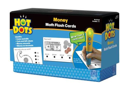 Educational Insights Hot Dots Math Flash Cards- Money