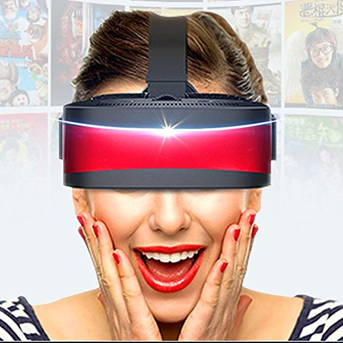 3d Stereoscopic Video - zhang With Eye Protection VR Headset 3D Glasses 360 HD Immersive Virtual Reality Helmet Glasses Video Game Handle Home Smart Game Console Stereoscopic Equipment Ar Helmet