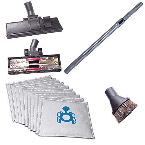 Staubsaugerrohr 35mm, Hartbodendüsen & Saugpinsel inkl. 10 Staubsaugerbeutel passend für Samsung SC 7480