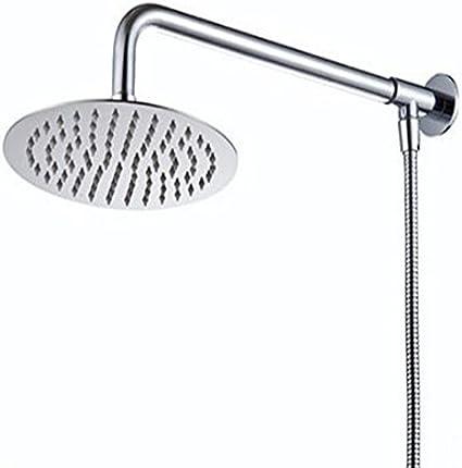 Hiendure/® 25cm Cuadrado Montaje en pared Cabeza de ducha de la precipitaci/ón Con brazo de ducha manguera de la ducha Acero inoxidable acabado cromo