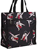 J Garden Betty Boop Collection Canvas Travel Tote Bag with Coin Purse - 12-Inch