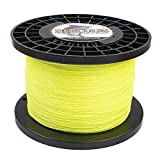 HERCULES Super Cast 1000M 1094 Yards Braided Fishing Line 300 LB Test for Saltwater Freshwater PE Braid Fish Lines Superline 8 Strands - Fluorescent Yellow, 300LB (136.1KG), 1.20MM