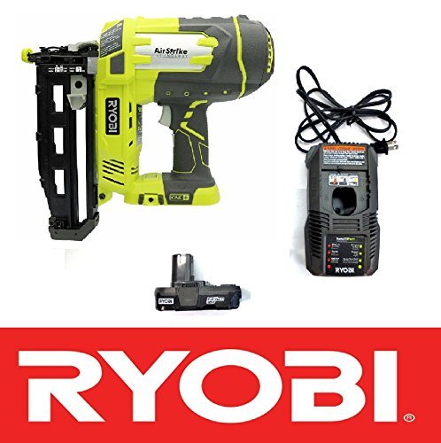 """Ryobi 18V One+ Airstrike 16-Gauge 3/4""""-2-1/2"""" Cordless Finish Nailer P325 - Battery & Charger Included (Certified Refurbished)"""