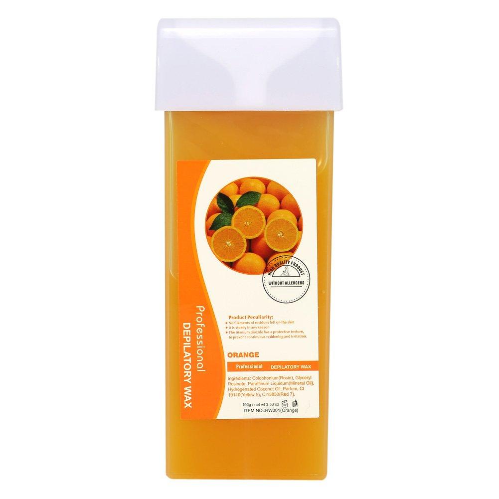 Depilatory Wax, Professional Depilatory Wax Waxing Cream Facial Underarm Body Hair Removal, 100g(Strawberry) Filfeel