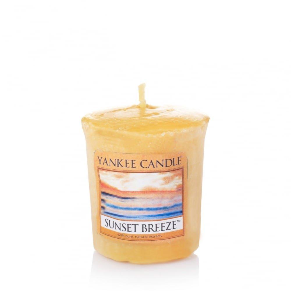 YANKEE CANDLE Samplers Candele Votive Sunset Breeze, Cera, Giallo, 4.4 x 4.5 x 5.3 cm 1352173E