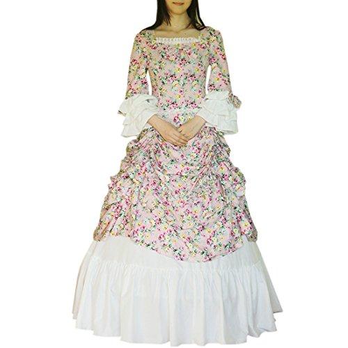 Baumwolle Gothic Maxi Lolita Blume Partiss Renaissance Kleider Gothic Maskerade Kleid Kostuem Kleid Lolita Viktorianisches Damen Kleid HwWqR5fxRp