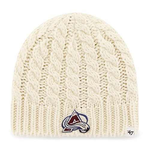 NHL Colorado Avalanche Women's Newbury Beanie Knit Hat, One Size, Natural