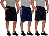 Men's Basketball Shorts (Large, Black/Red)