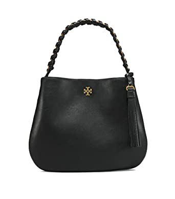 d6e7ac09bd28 Amazon.com  Tory Burch Brooke Ladies Large Leather Hobo Handbag 43714001   Watches