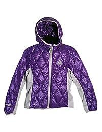 Gerry Girls Packable Down Hooded Jacket,Iris,XS 5/6