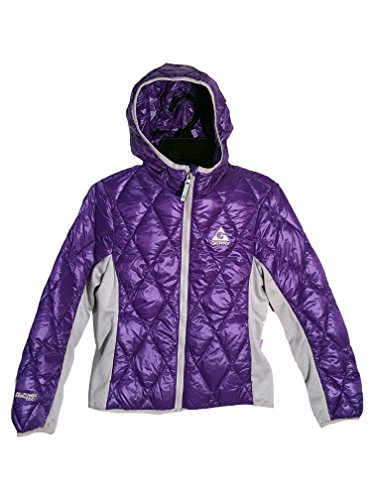 (Gerry Sweater Down Ultra Light Hooded Jacket for Girls (Small / 7-8,)